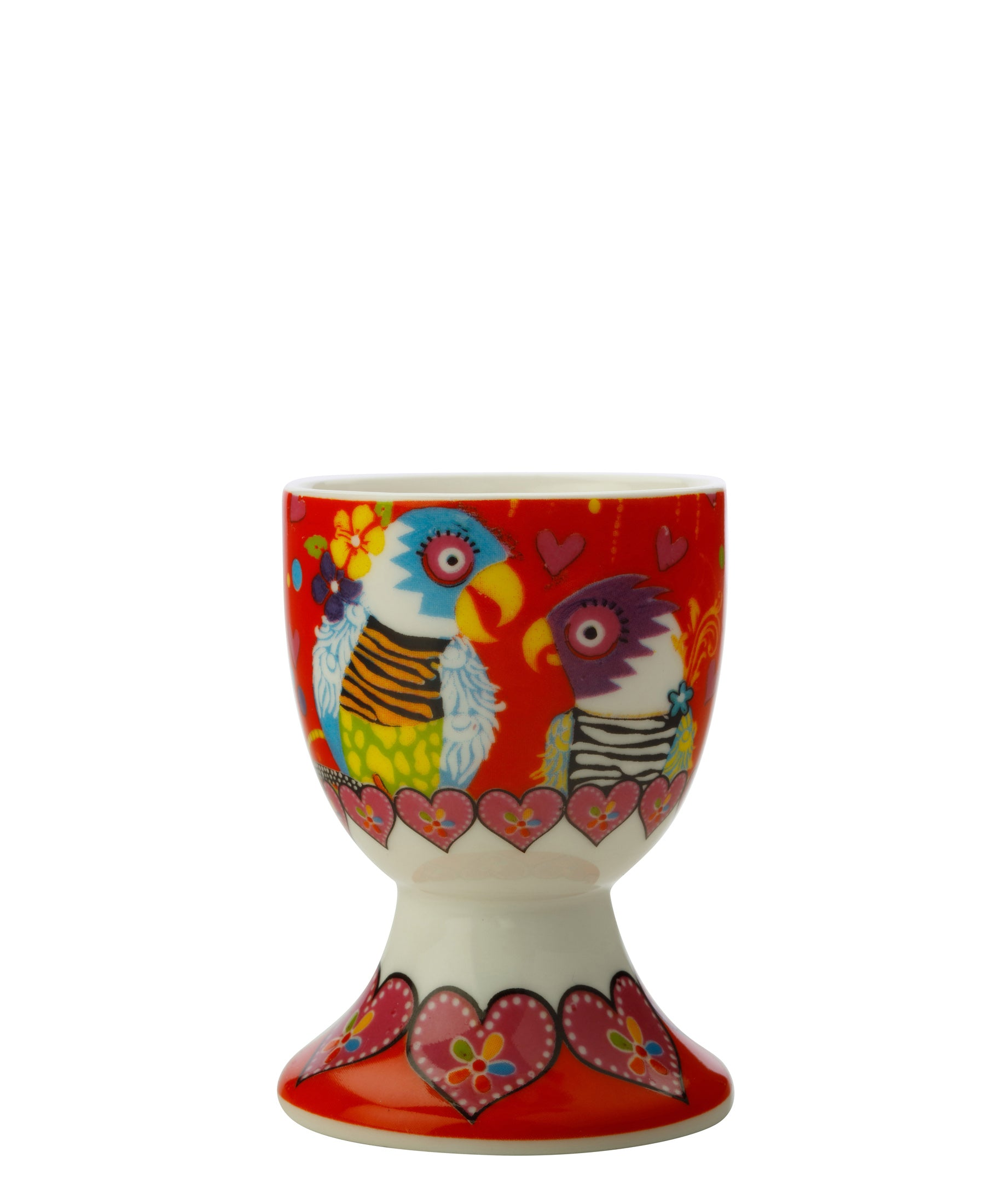 Maxwell & Williams Love Hearts Egg Cup Parrots