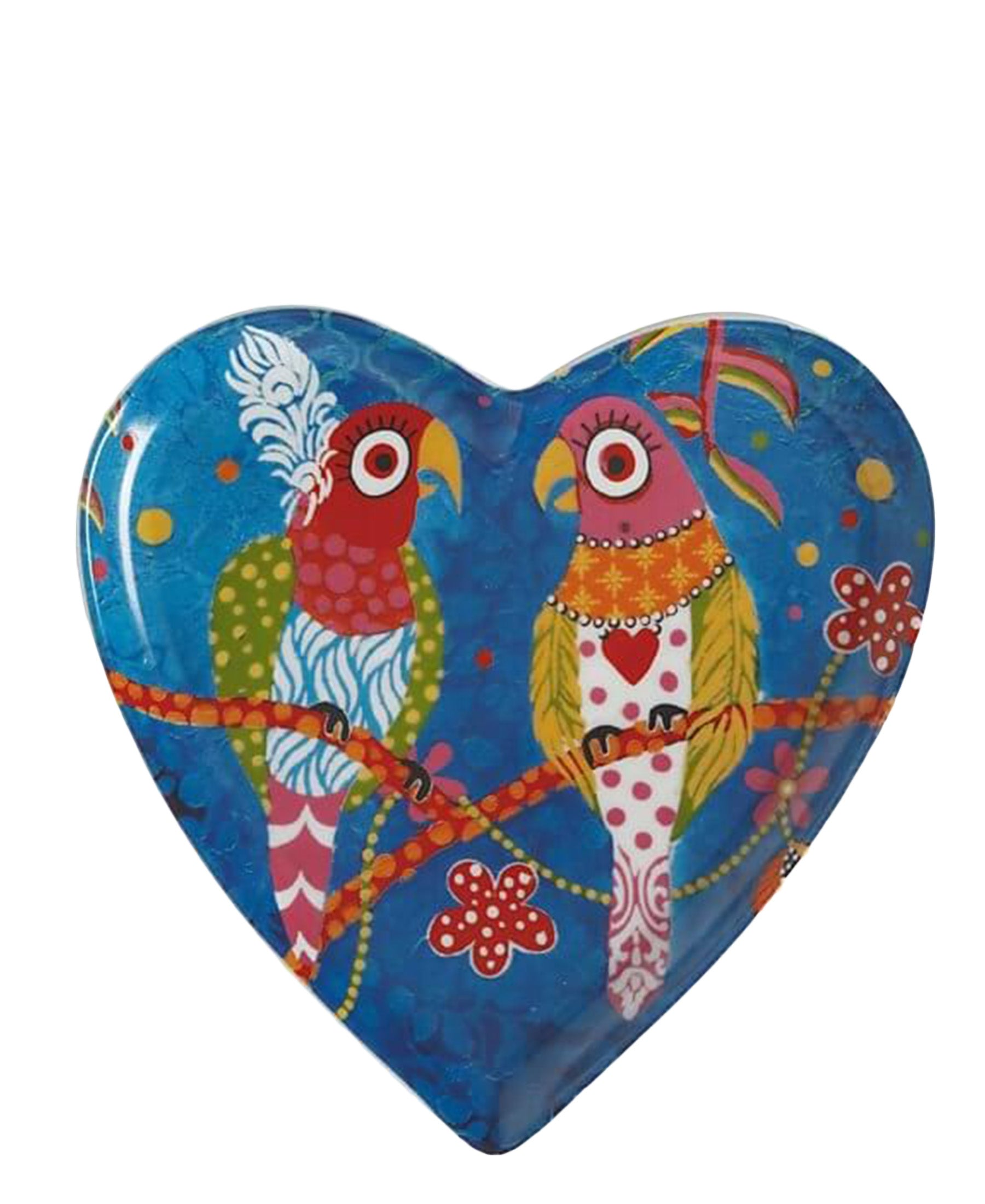 Love Hearts Rainbow Birds Plate 15.5cm
