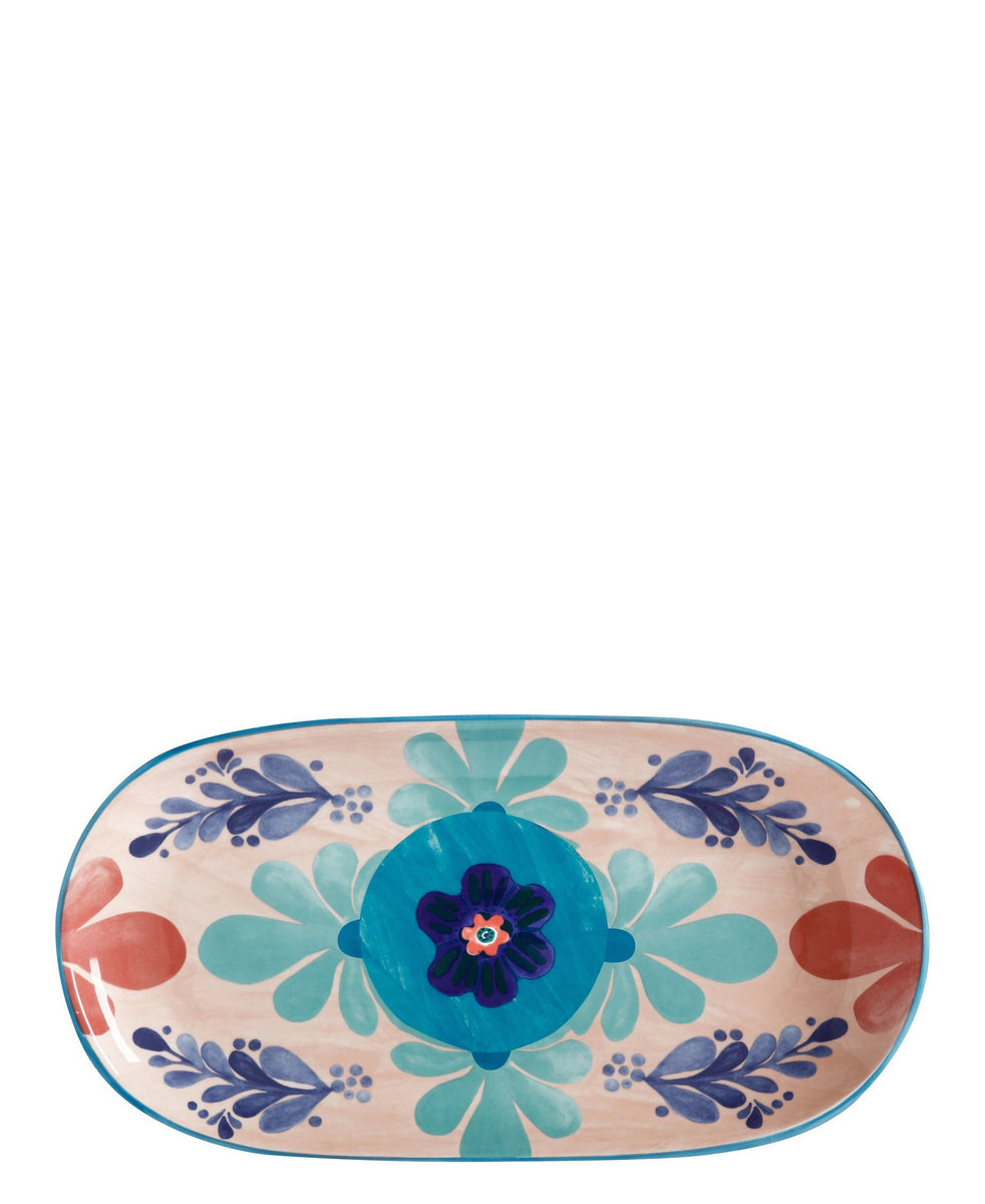 Maxwell and Williams Majolica Oblong Platter 33X17cm - Peach