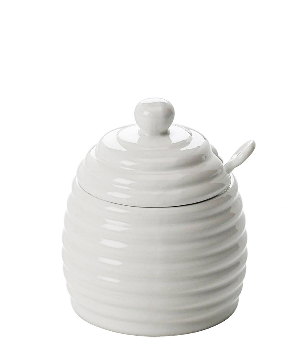 Maxwell & Williams White Basics Honey Pot With Spoon