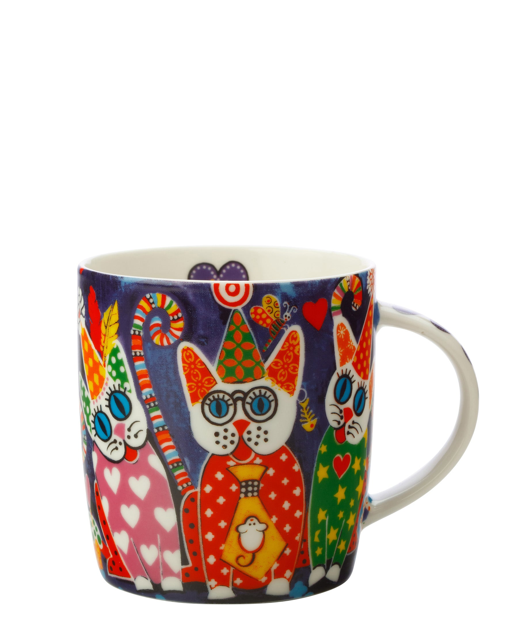 Love Heart Kitties Mug 370ml