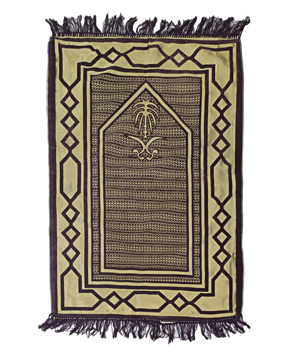 Musallah Prayer Mat - Beige & Brown