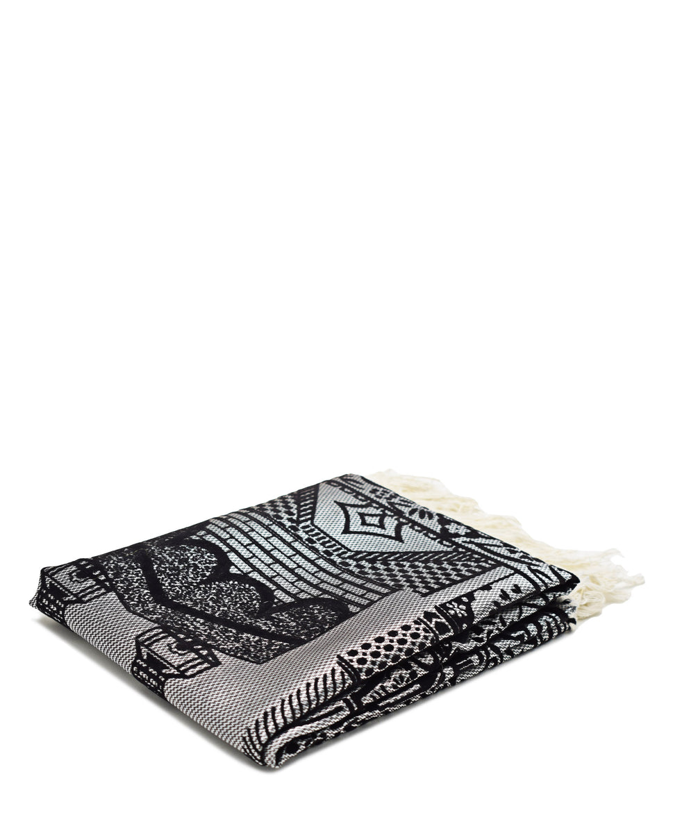 Musallah Prayer Mat - Black & Grey