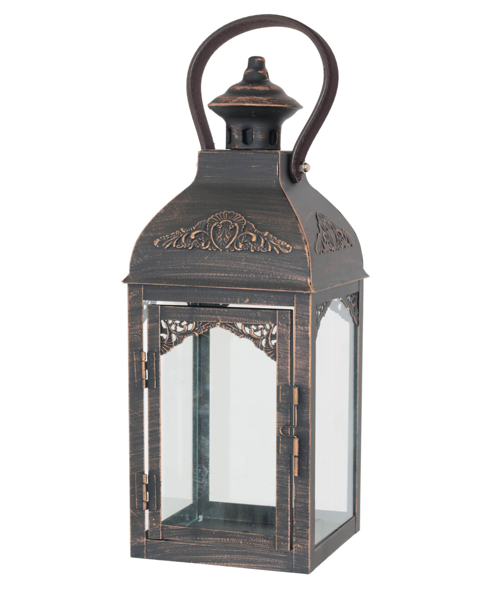 Walnut Antique Lantern 36cm - Black