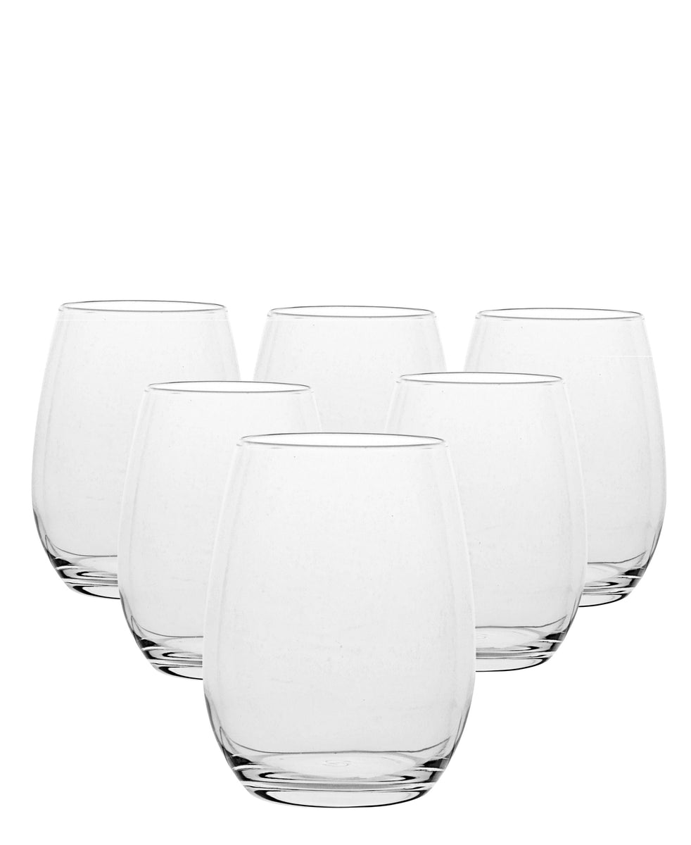 Pasabahce Amber Tumbler Set Of 6 - Clear