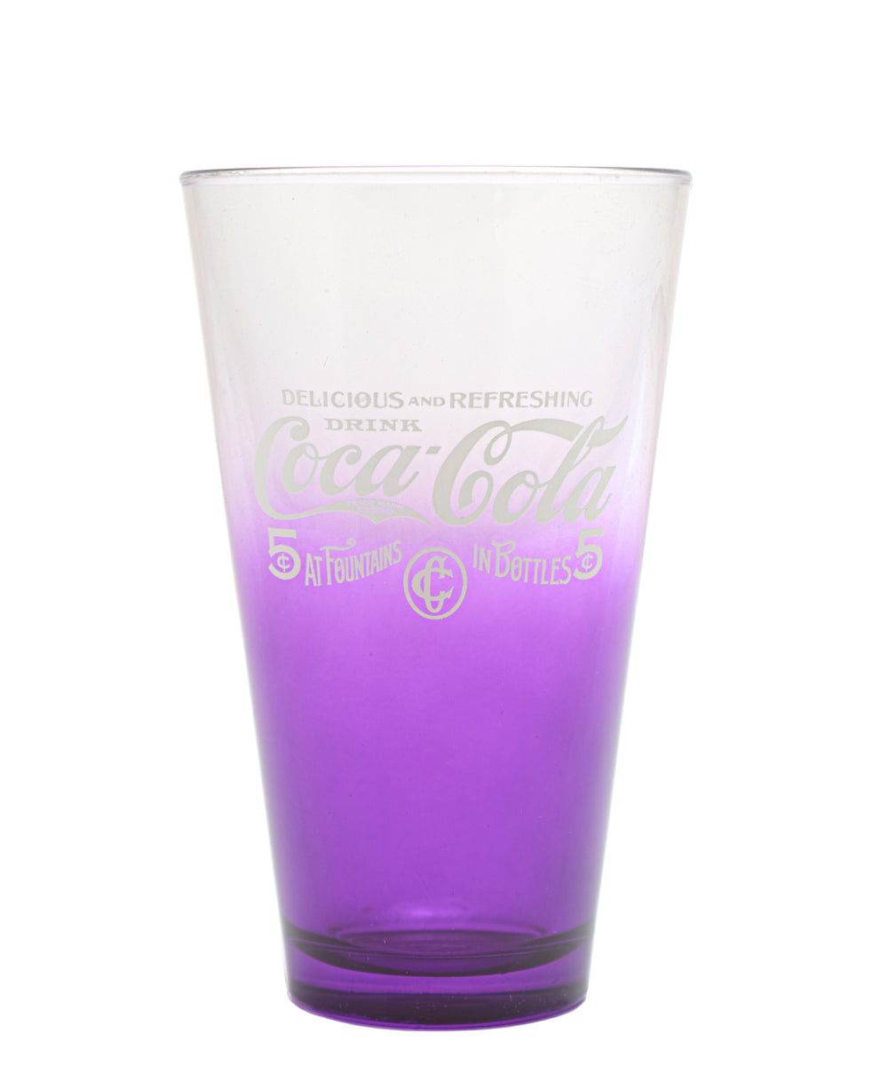 Retro Coca Cola Glass Set Of 5 - Purple