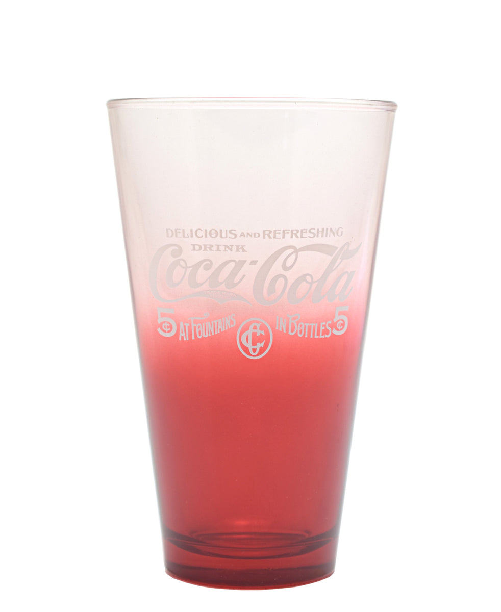 Retro Coca Cola Glass Set Of 5 - Red