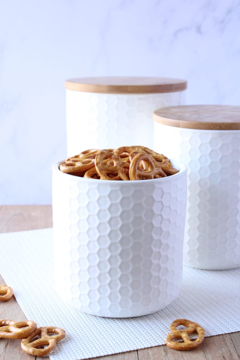 Ciroa Honeycomb Storage jar Small