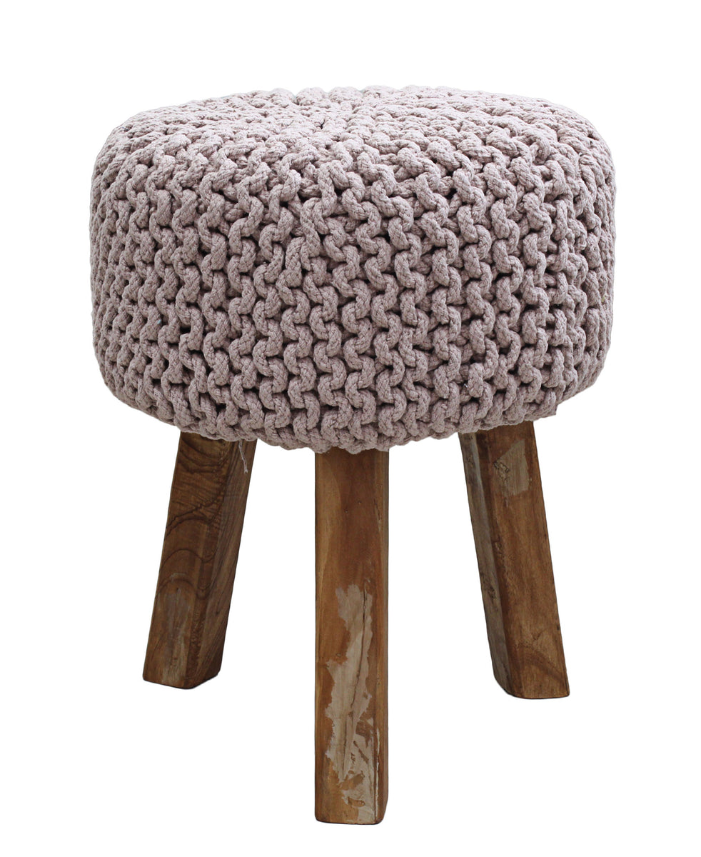 Neo Handmade Stool 470mm - Pink