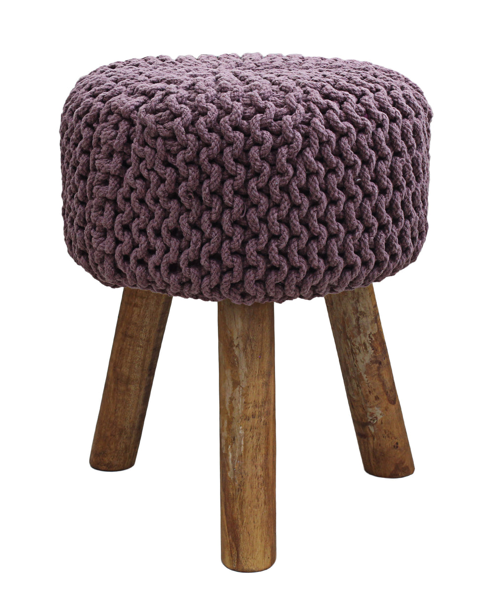Neo Handmade Stool 470mm - Purple