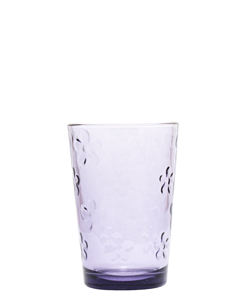 Pasabahce Flower Tumbler - Purple