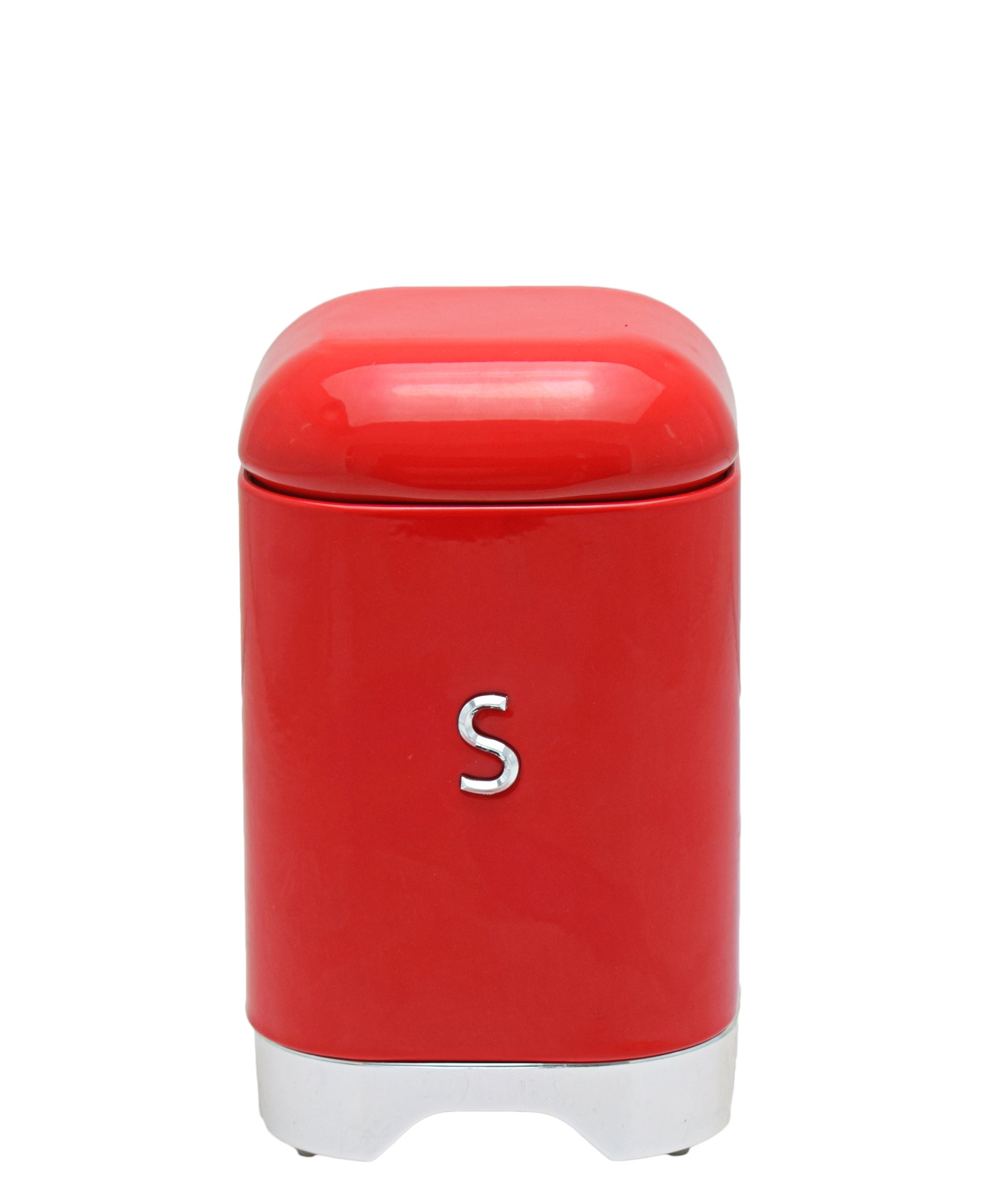 Retro Sugar Tin - Red