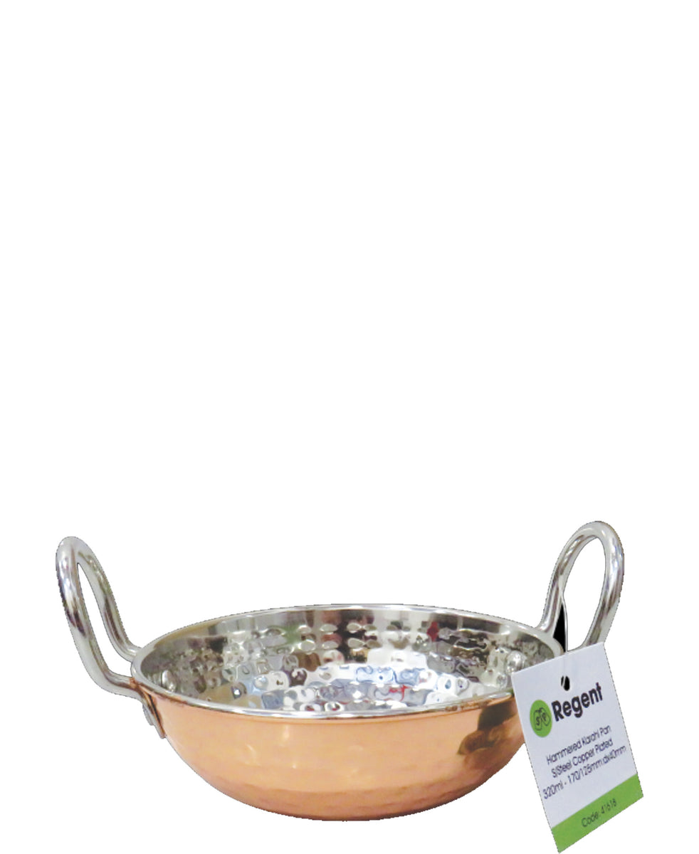 Regent Cookware Hammered Karahi Pan - Copper Plated