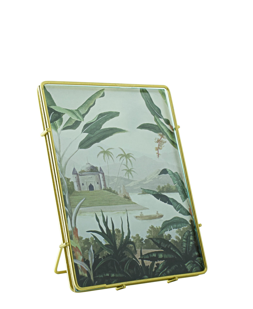 Golden Glass Picture Frame