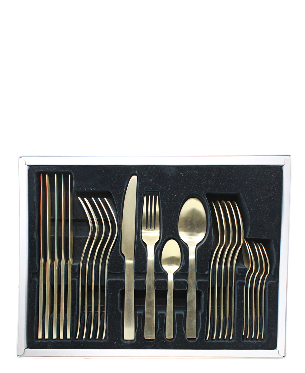 Table Pride 24 Piece Cutlery Set - Gold