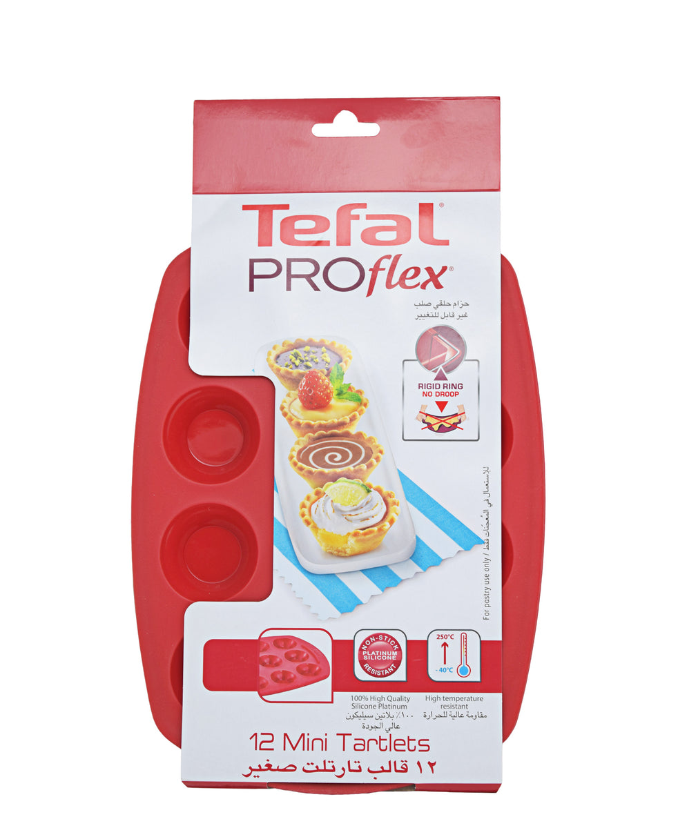 Tefal Proflex Bakeware 12 Mini Tartlets - Red