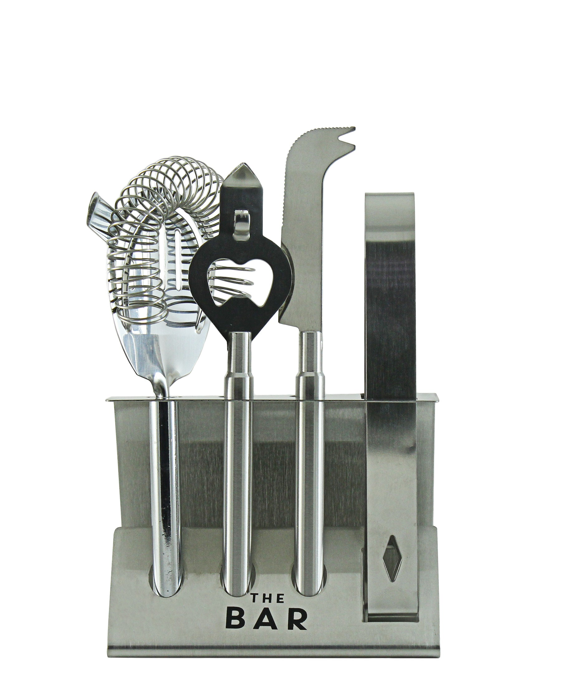 The Bar Cocktail Tool Set - Stainless Steel