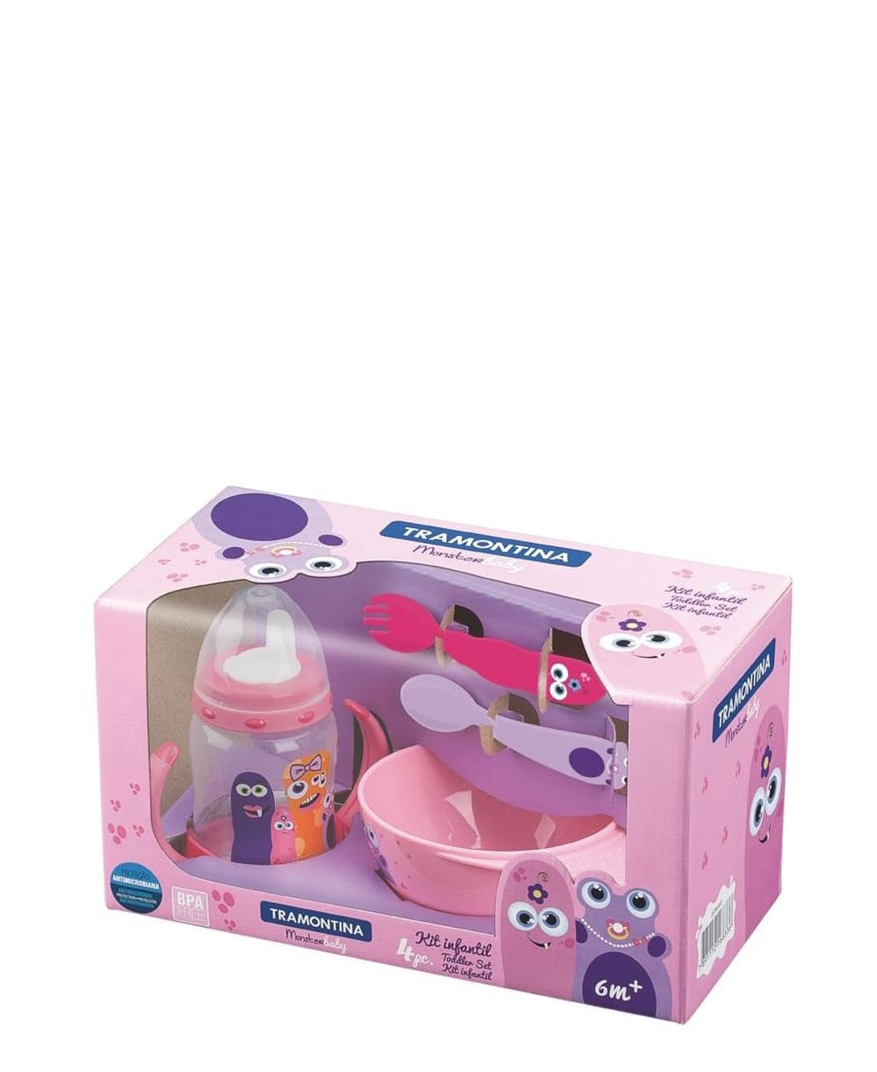 Tramontina Monsters Lunch Box - Pink
