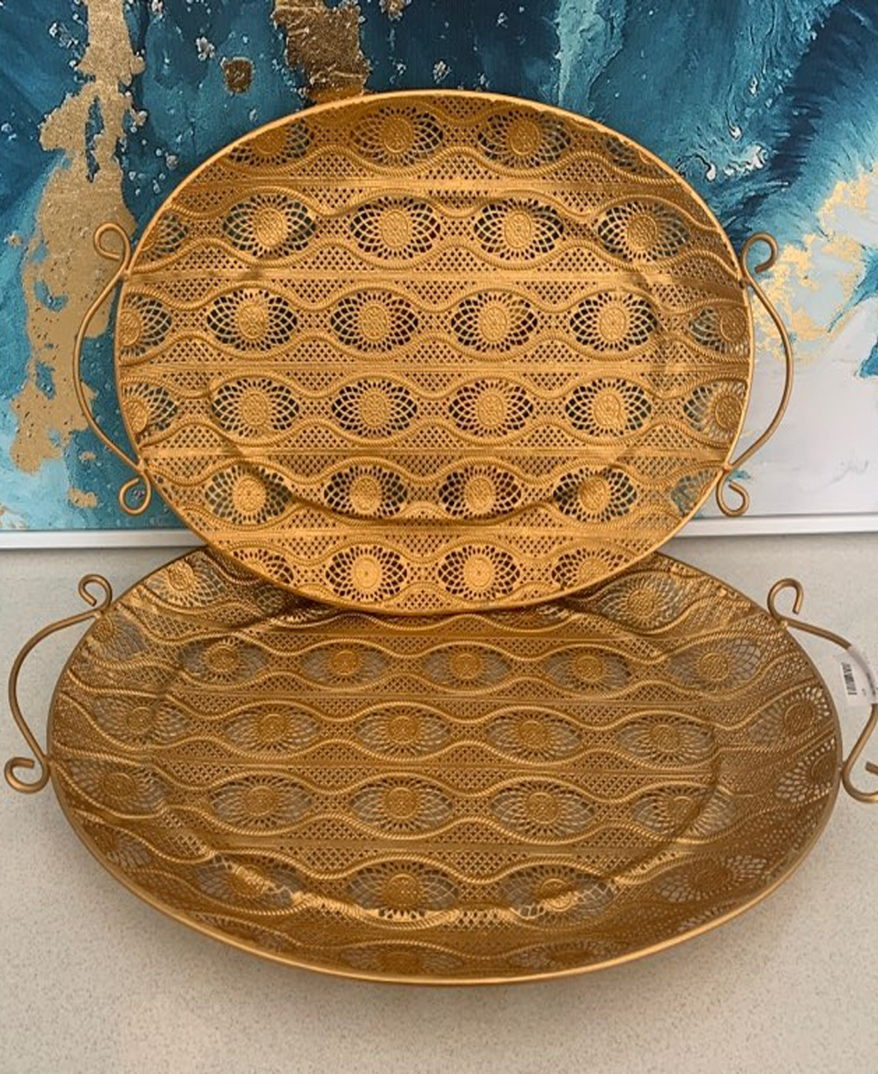 Moroccan 2pc Oval Tray
