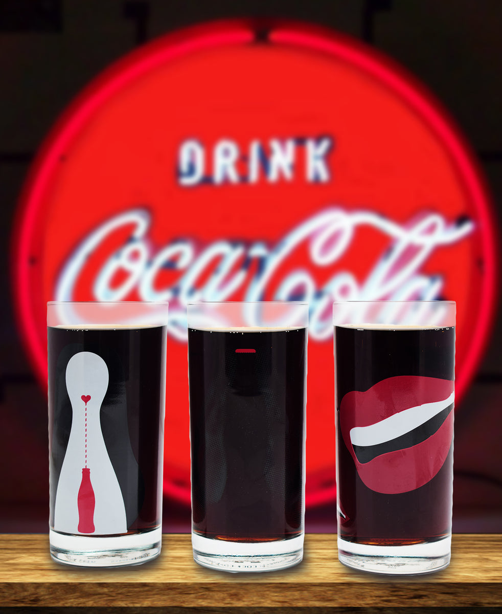 Retro Coca Cola Glass Set Of 3