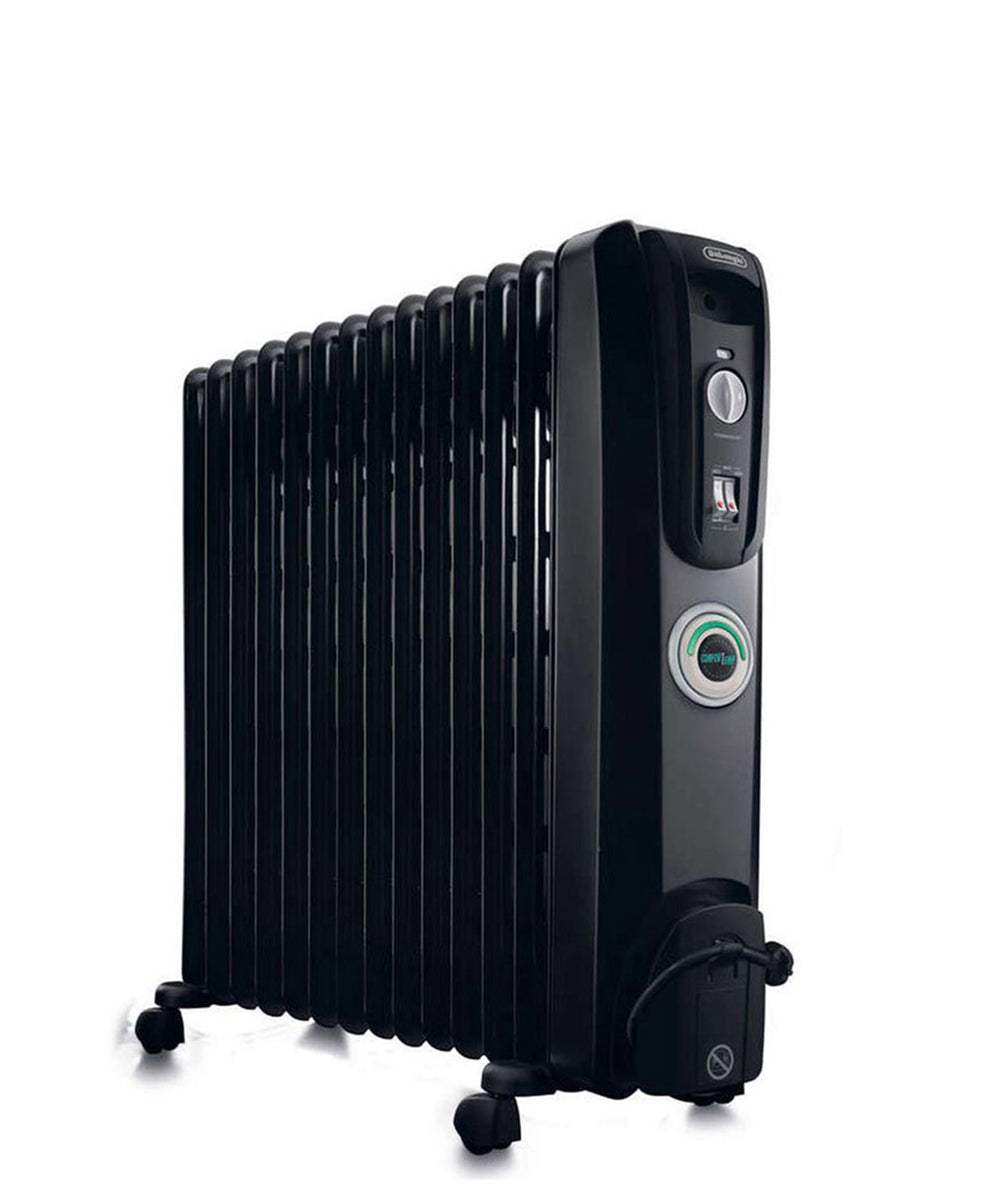 DeLonghi 12 Fin Oil Heater - Black