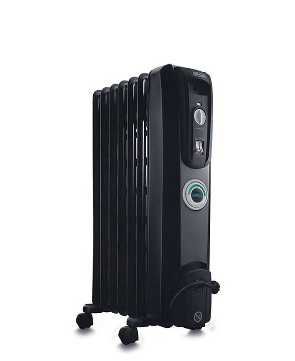 DeLonghi 7 Fin Oil Heater - Black
