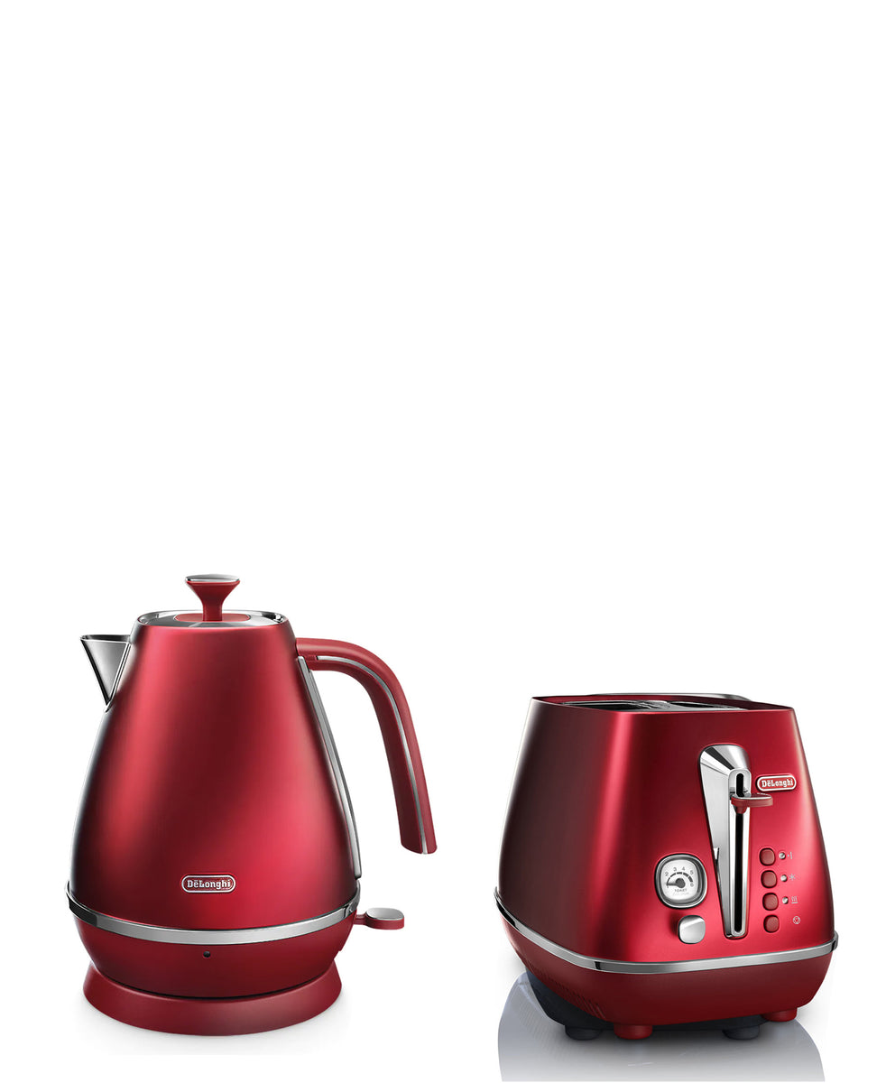 DeLonghi Distinta Flair Kettle & Toaster Combo - Red