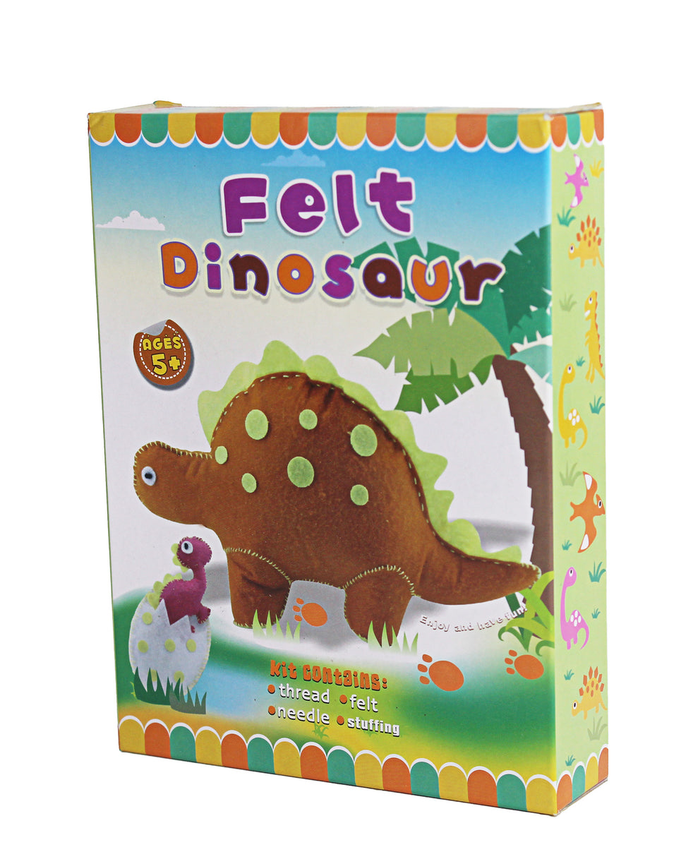 Make Your Own Felt Sewing Dinosaur - Brown