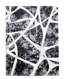 Damascus Swerve Carpet 500mm x 800mm - Black & Grey