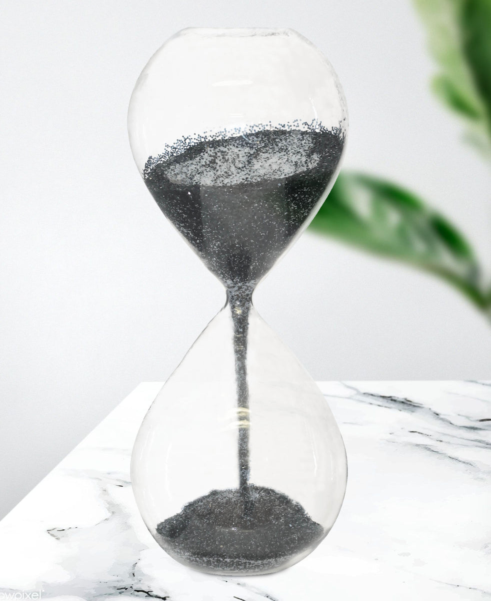 Hour Glass Display 24cm - Black