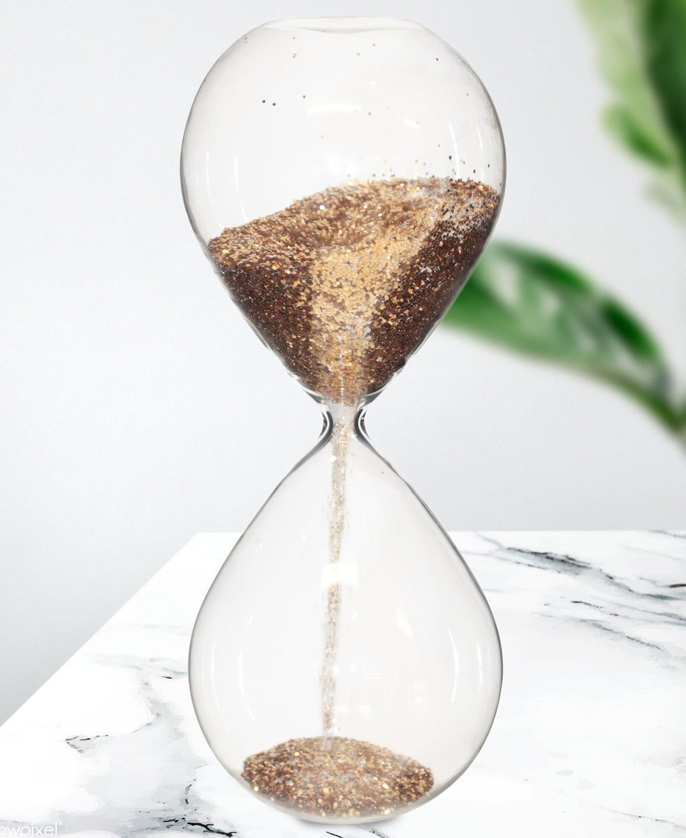 Hour Glass Display 16cm - Gold