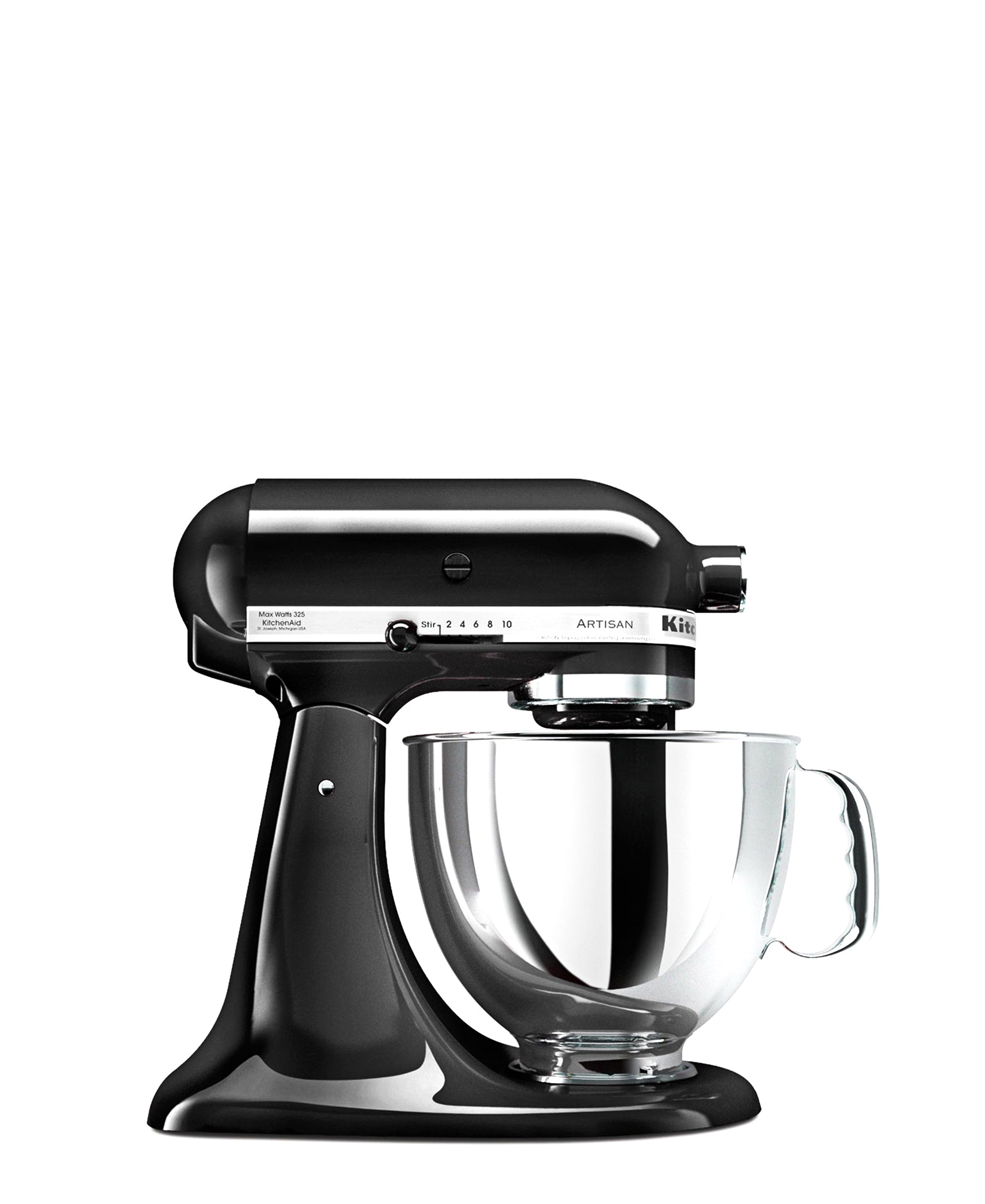 KitchenAid 4.8LT Stand Mixer + Free S/S Bowl - Onyx Black