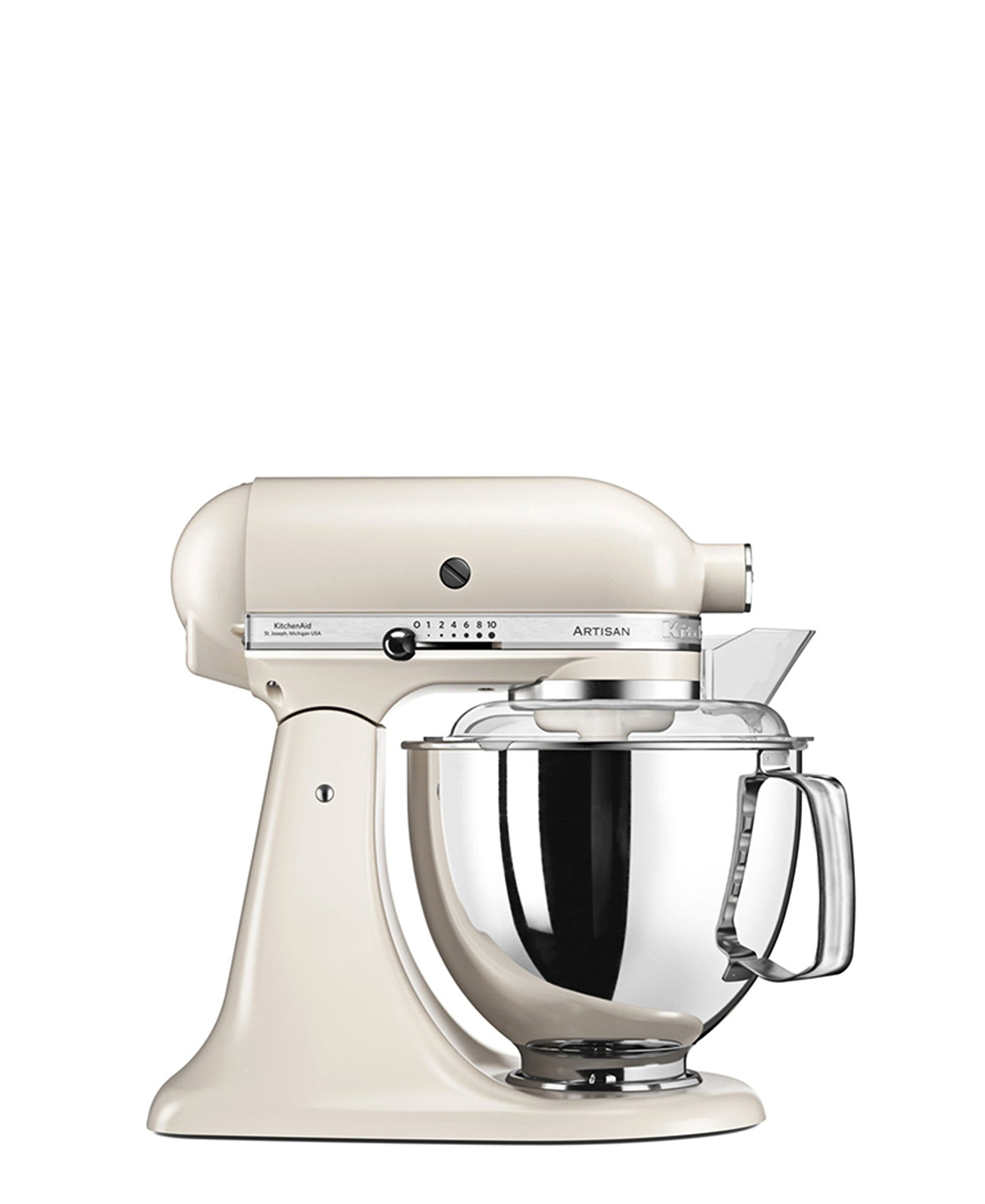 KitchenAid 4.8LT Stand Mixer + Free S/S Bowl - Cafe Latte