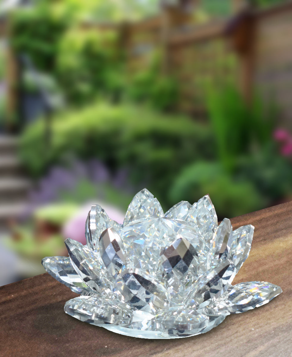Crystal Flower Ornament - Clear