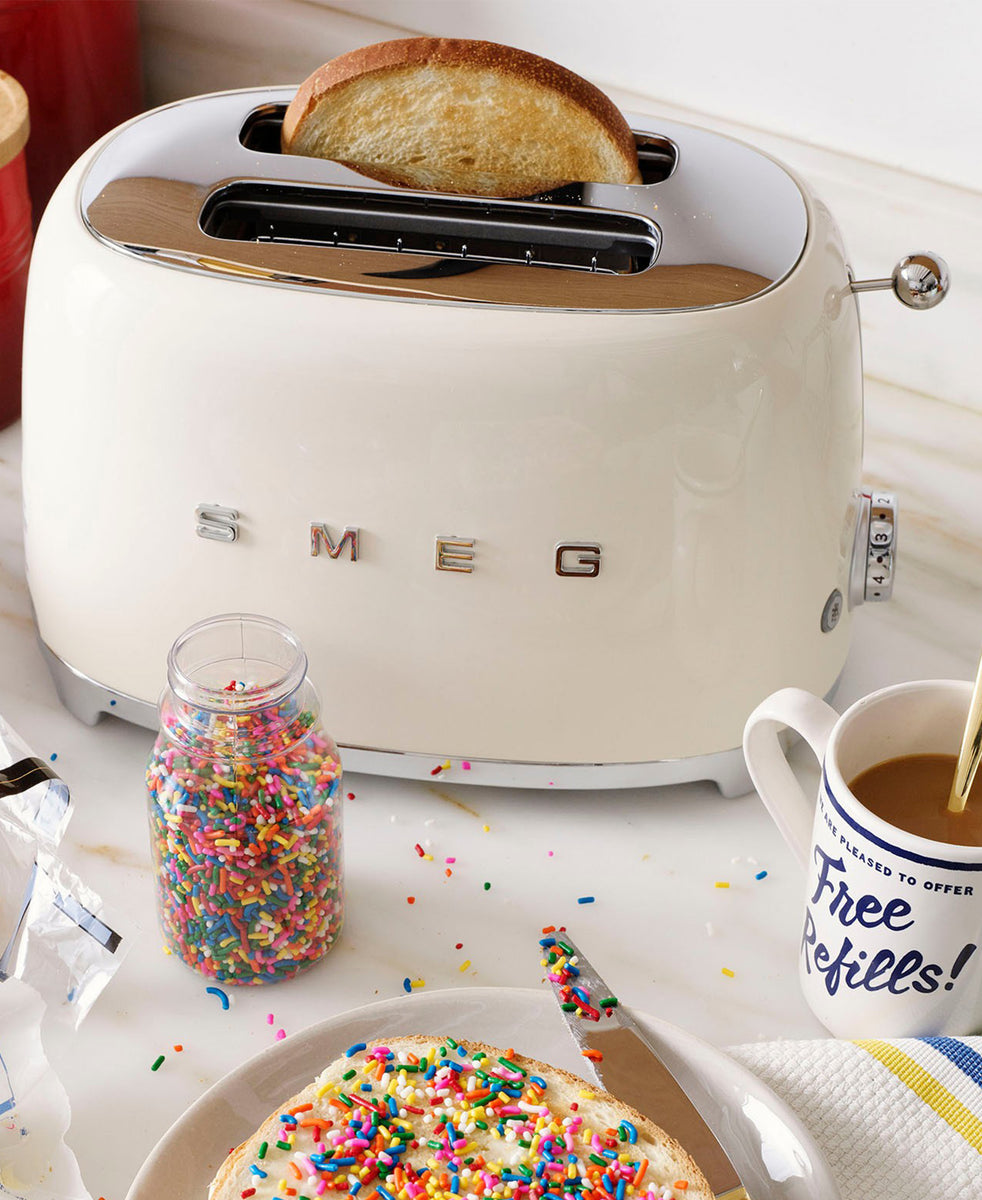 Smeg 2 Slice Toaster - Cream