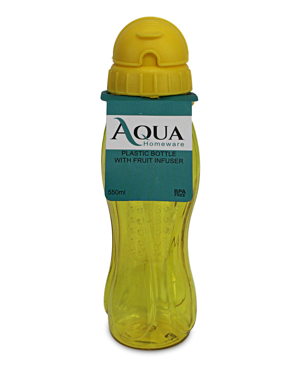 Aqua Water Bottle With Fruit Infuser - Yellow