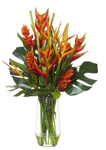 Heliconia and Ginger Tropical Floral Arrangement