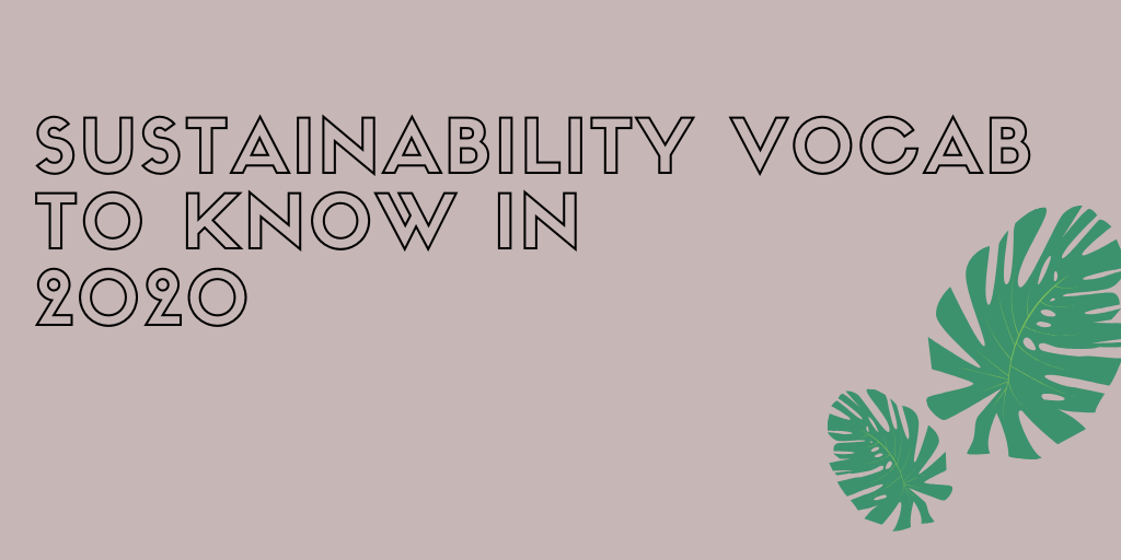 Sustainability Vocab to know in 2020