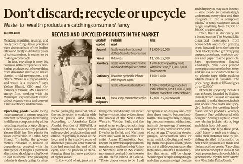 REFASH featured in the Business Standard