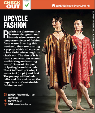 REFASH featured in Mumbai Mirror