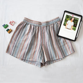Rainbow Stripe Zero Waste Shorts - REFASH