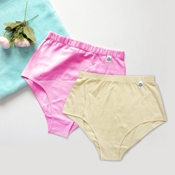 Pink and Cream Classic Briefs - REFASH