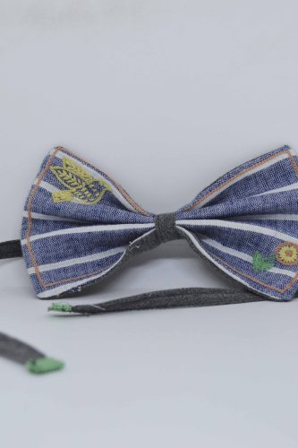 Striped Bow Tie - REFASH
