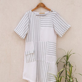 White Myra Dress - REFASH