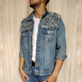 Unisex Denim Fur Jacket