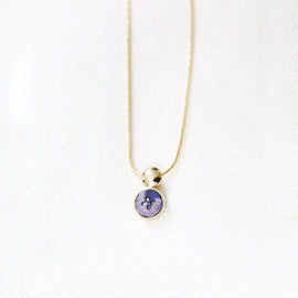 Petite pendant necklace - Gold