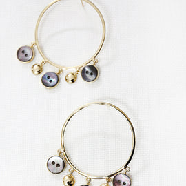 Hoop statement earrings - Gold