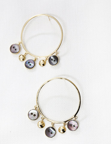 Hoop statement earrings