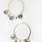 Hoop statement earrings - REFASH