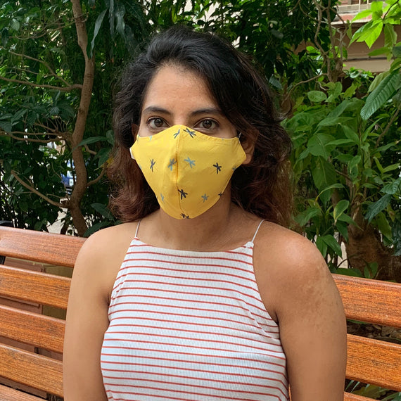 Calm Palm Upcycled Mask - REFASH